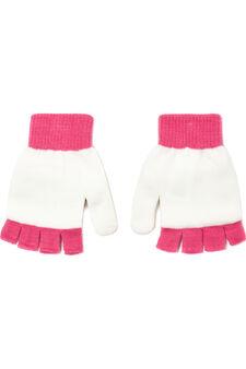 Fingerless mitten gloves, White, hi-res