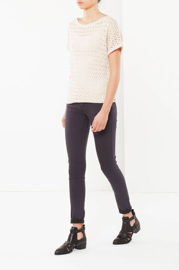 Openwork jumper, Light Beige, hi-res