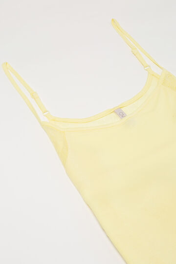 Viscose nightdress with straps, Lemon Yellow, hi-res