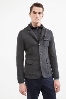 Raw-cut Rumford jacket, Dark Grey, hi-res