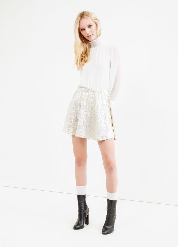 Short skirt with raised weave   OVS