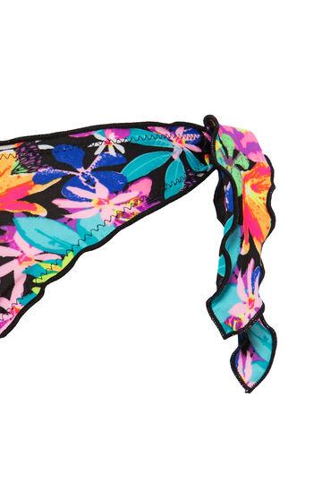 Stretch bikini bottoms with pattern, Multicolour, hi-res