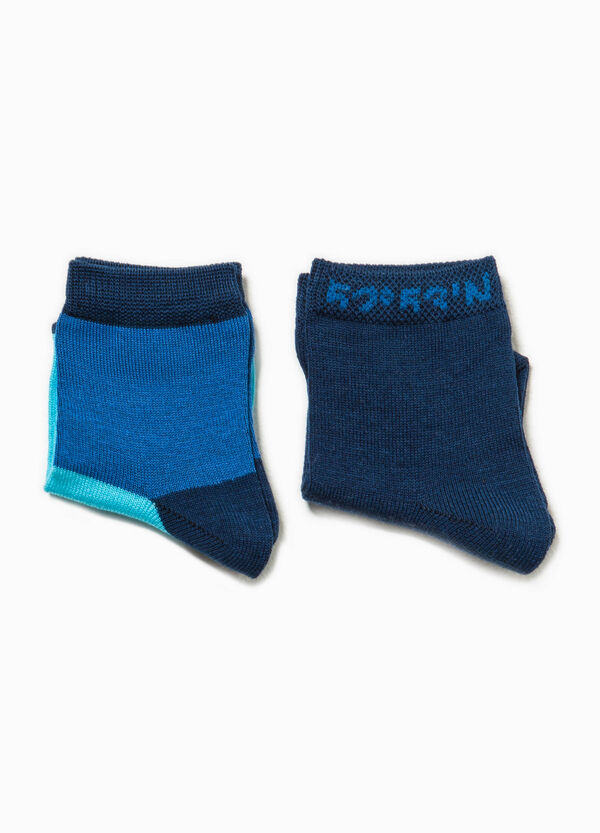 Two-pair pack solid colour and two-tone socks | OVS
