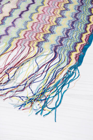 Viscose scarf with jacquard pattern, Multicolour, hi-res