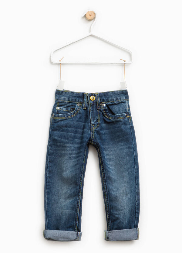 Worn-effect jeans with turn-ups | OVS
