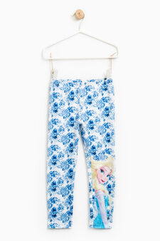 Leggings stampa Frozen all-over, Azzurro, hi-res