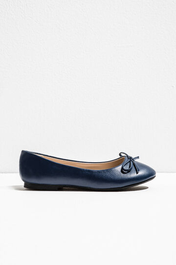 Ballerina flats with bow, Blue, hi-res