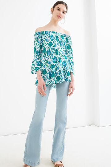 100% viscose floral patterned T-shirt