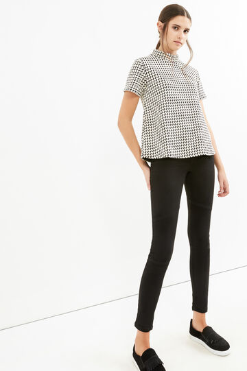 Plain skinny fit stretch jeans., Black, hi-res