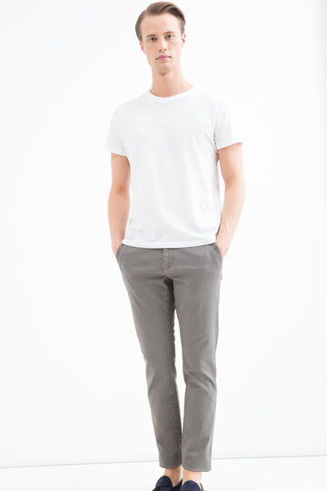 Stretch cotton chinos, Grey, hi-res