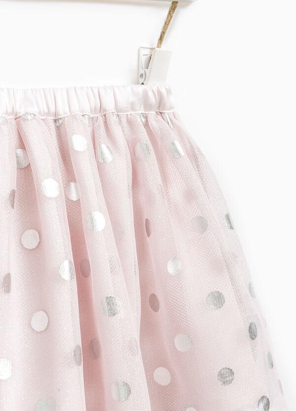 Tulle skirt with polka dot print. | OVS