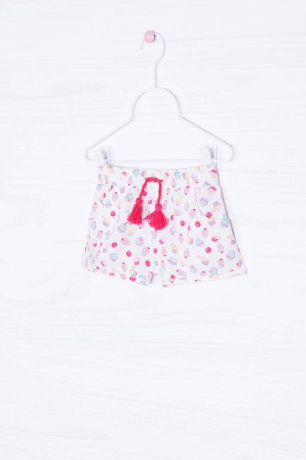 Printed shorts in 100% viscose | OVS