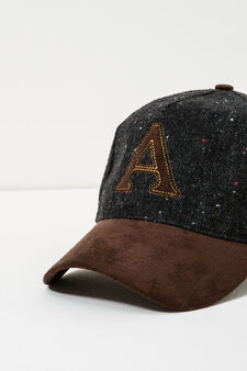 Baseball cap with patches, Grey, hi-res