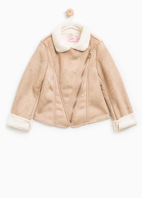 Faux suede jacket with zip | OVS