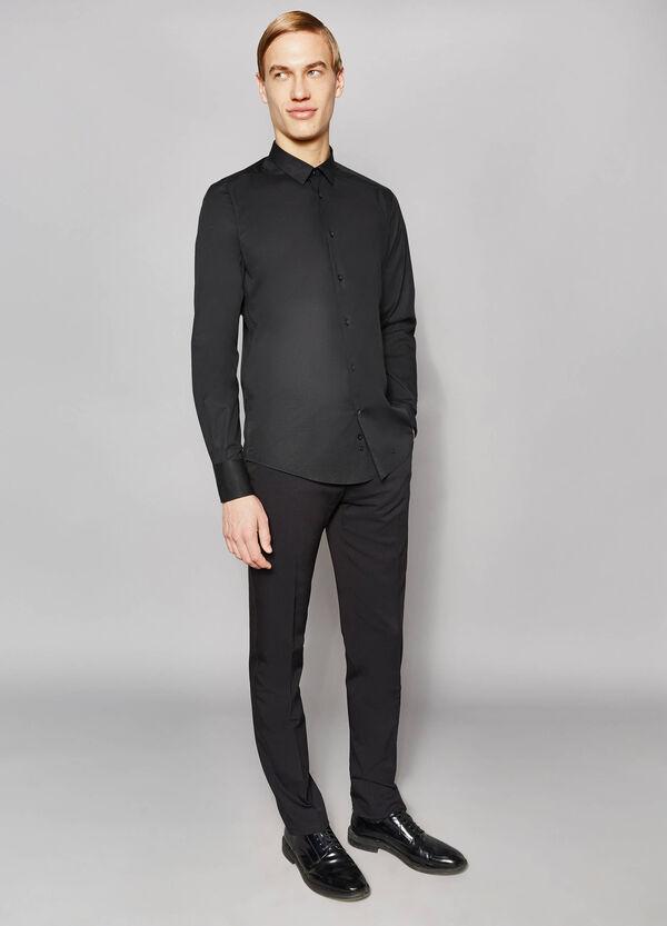Slim-fit formal shirt in stretch cotton   OVS