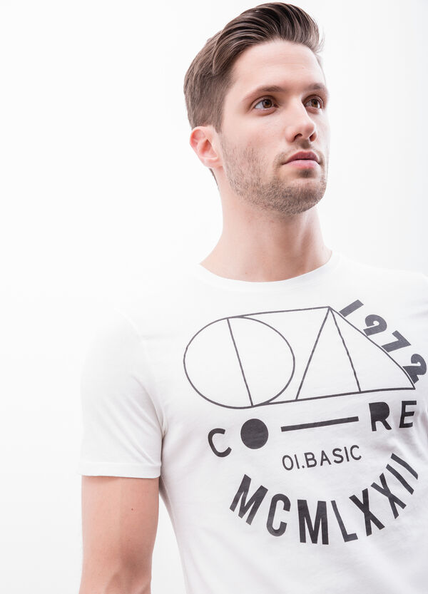 Cotton T-shirt with printed lettering | OVS