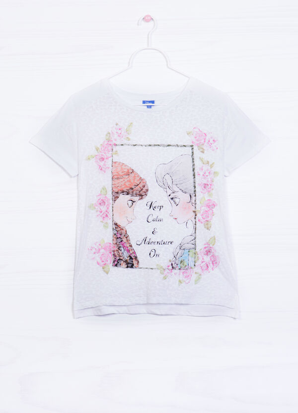 Cotton blend T-shirt with Frozen print | OVS