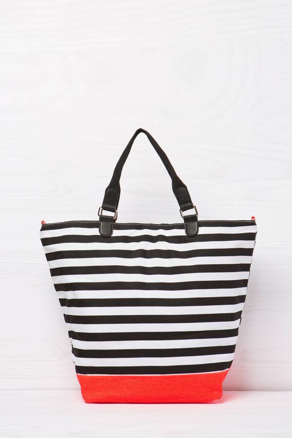 Striped cotton handbag | OVS