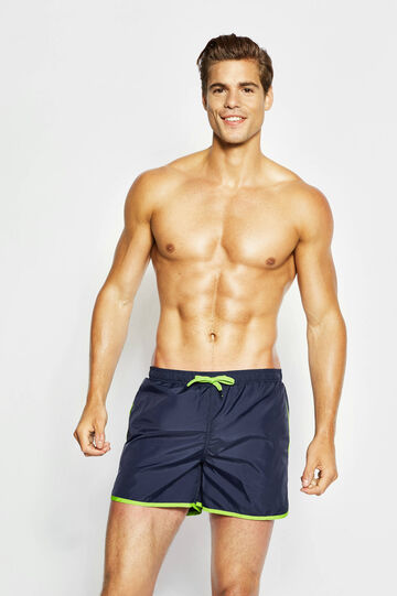 Beach shorts with edging in contrasting colour