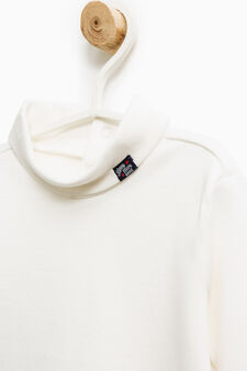 100% cotton bodysuit with long sleeves, Milky White, hi-res
