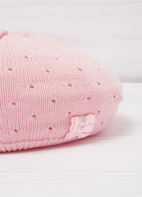 Diamanté beret in cotton | OVS