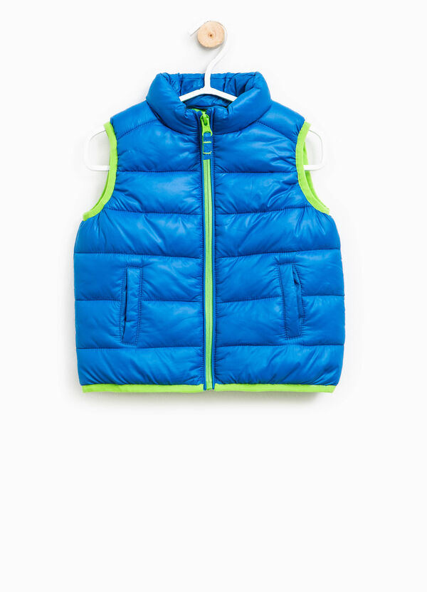 Quilted gilet with extractable hood | OVS