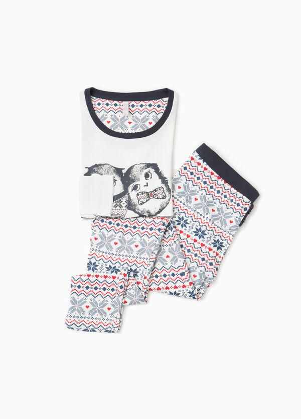 100% cotton pyjamas with owl print | OVS