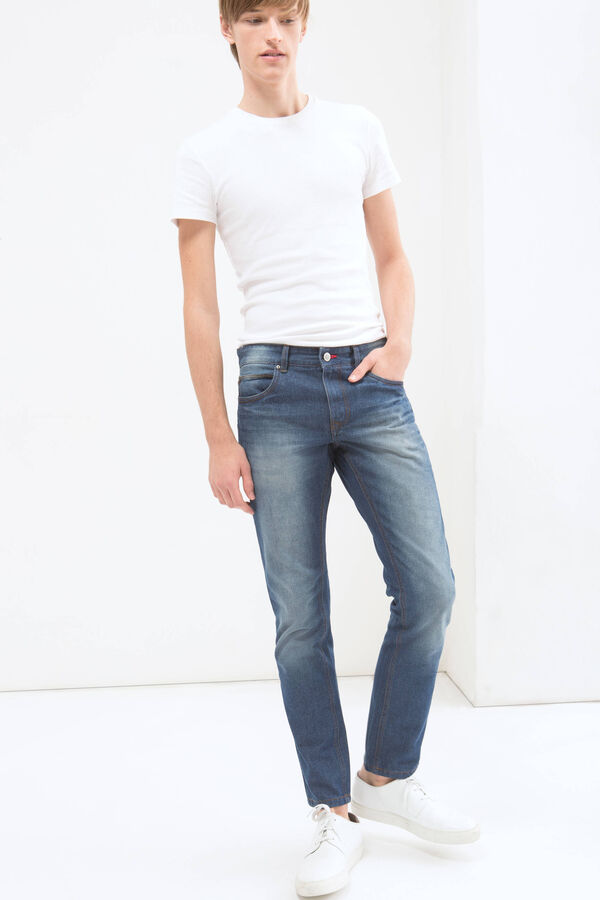 Worn-effect, slim fit jeans | OVS