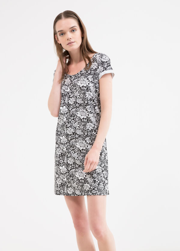 All-over print stretch cotton dress | OVS