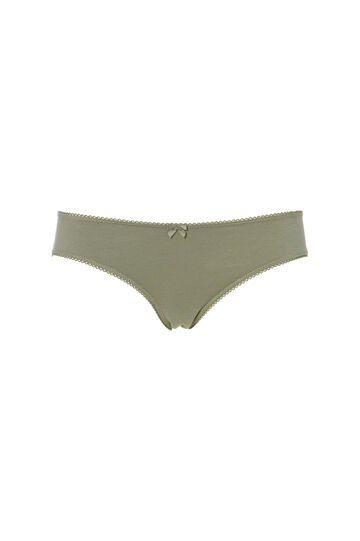 Two-pack solid colour stretch briefs, Army Green, hi-res