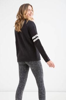 Sweatshirt with Teen print, Black, hi-res