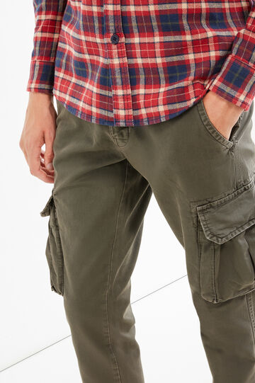 Pantaloni chino cargo regular fit, Grigio, hi-res
