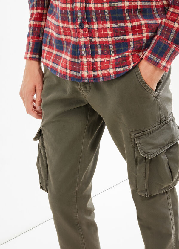 Pantaloni chino cargo regular fit | OVS