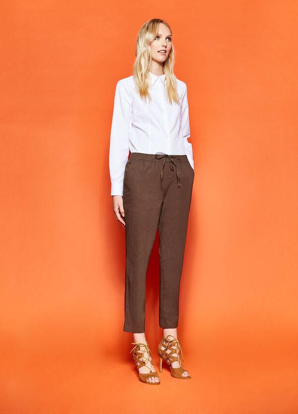 Pantalón de algodón con cordón de ajuste | OVS