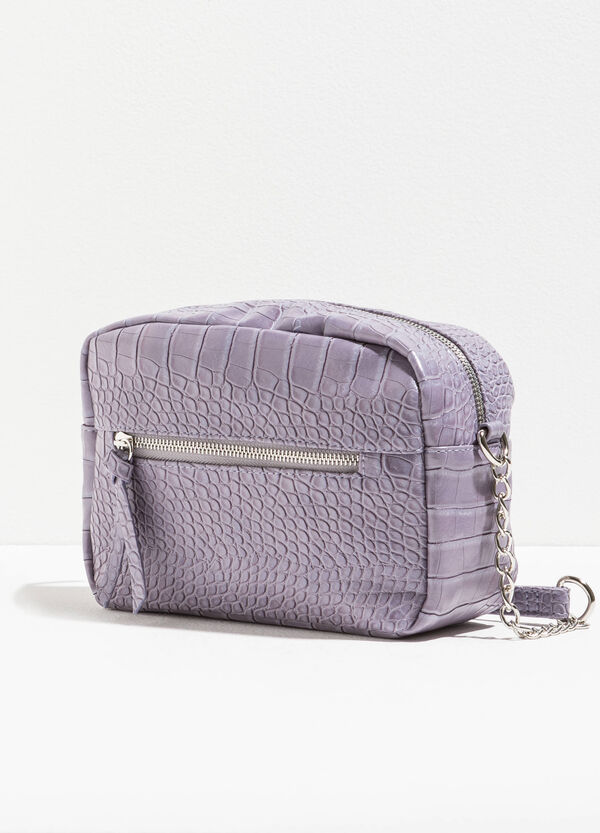 Shoulder bag with crocodile texture | OVS