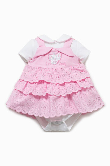 The Aristicats bodysuit and dress outfit, White/Pink, hi-res