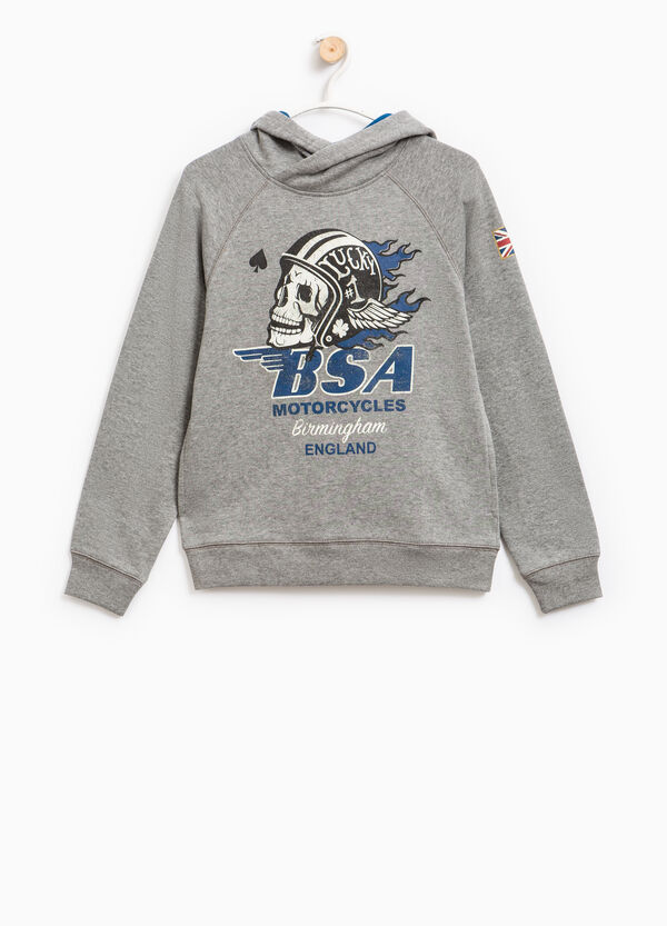 Sweatshirt with print on the front and sleeve | OVS