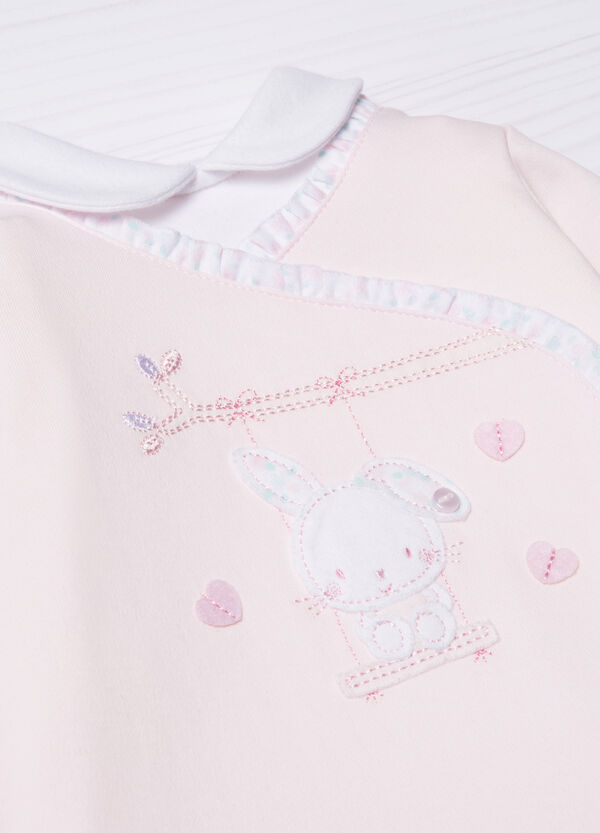 100% cotton polo shirt with frills | OVS