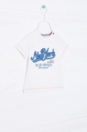 T-shirt puro cotone con patch