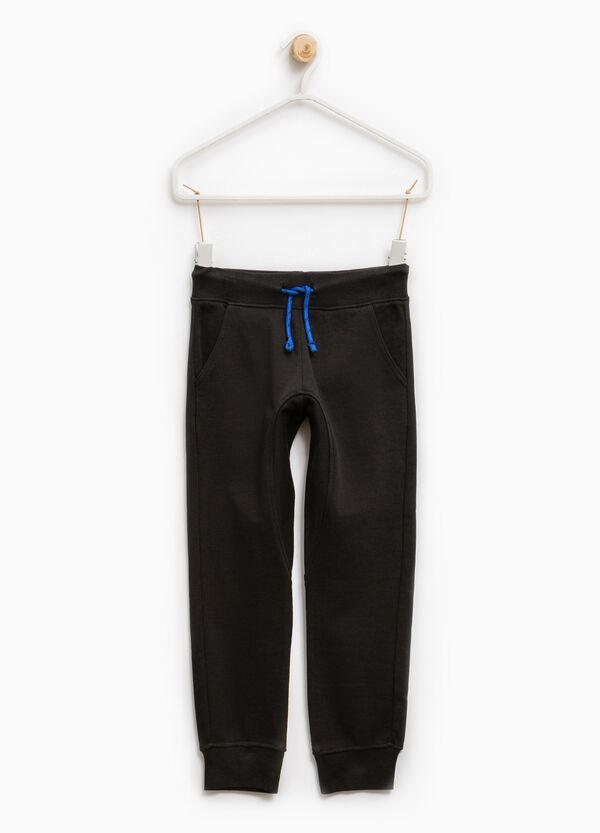 Pantaloni tuta cotone con costina | OVS
