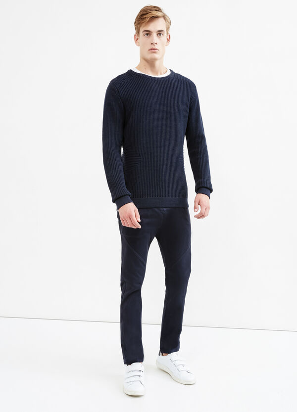 Fashion baggy-fit stretch chino trousers | OVS