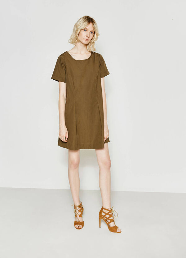 Cotton dress with pleating | OVS
