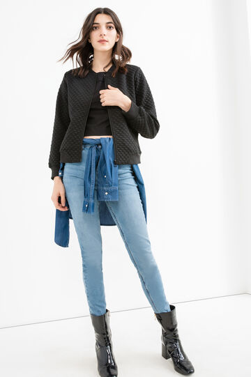 High-waist, skinny fit stretch jeans, Medium Wash, hi-res