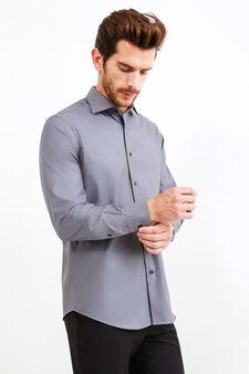 Camicia formale colletto francese, Grigio, hi-res