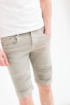Bermuda di jeans stretch con inserti, Grigio, hi-res