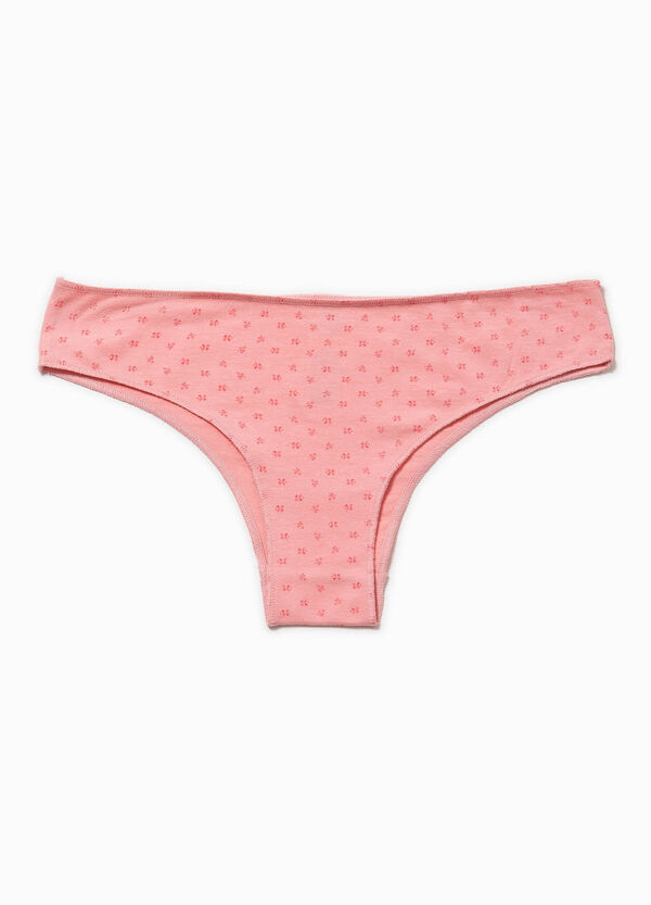Cotton briefs with all-over print | OVS