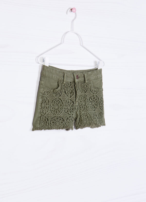 100% cotton shorts with openwork inserts | OVS