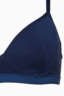 Padded bra with underwire, Blue, hi-res