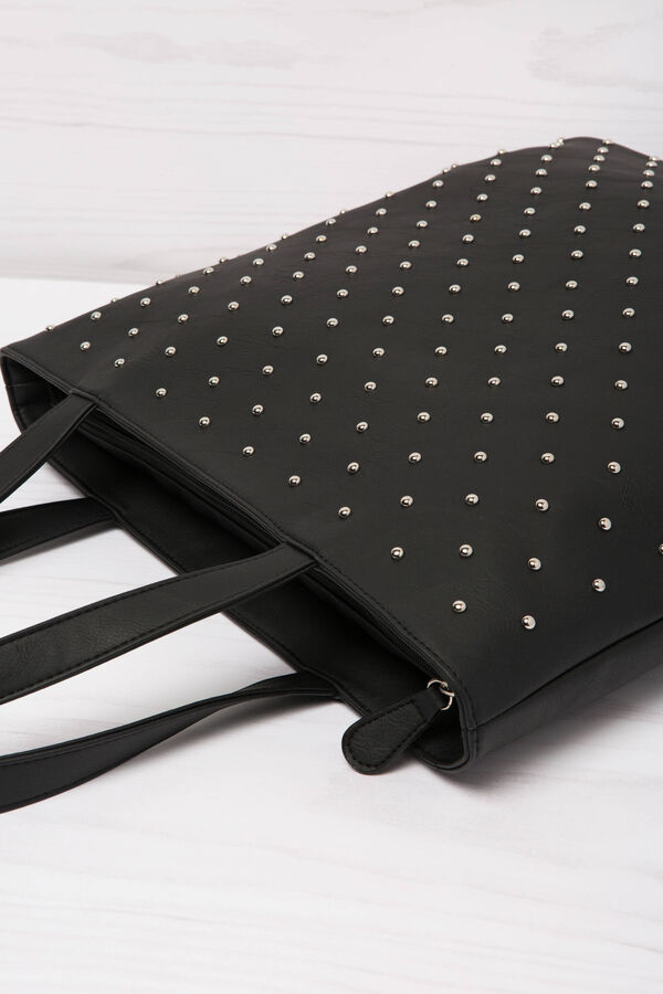 Leather look shopping bag with studs | OVS