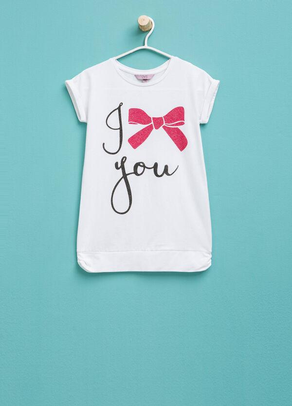 Printed cotton stretch T-shirt   OVS
